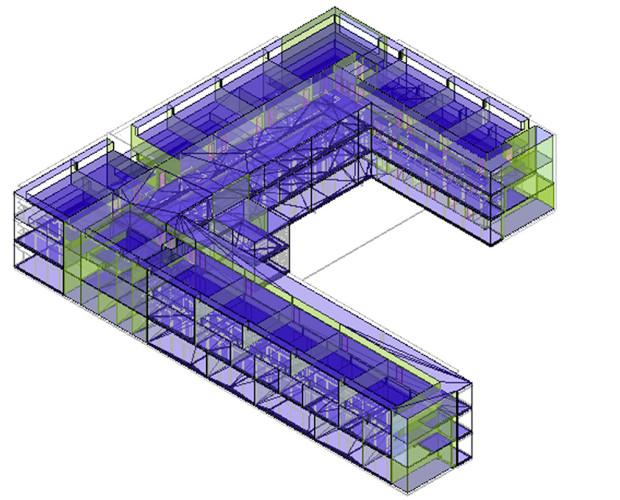 Графічне відображення математичної моделі будівлі